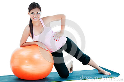 Cute Young Woman Workout