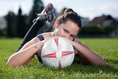Cutie with a soccer ball