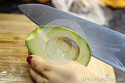 Cuting Avocado