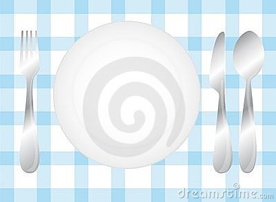 Cutlery and dish