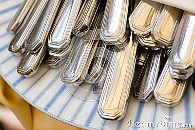 Cutlery in a napkin