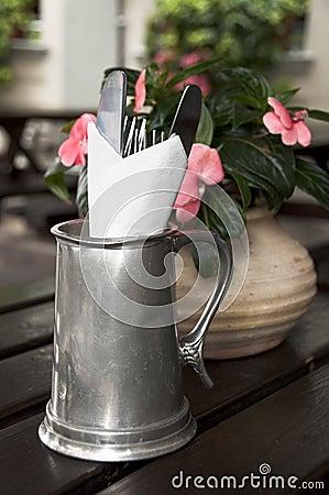 Cutlery in a pub