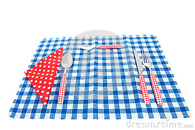 Cutlery and table cloth