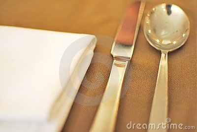 Cutlery and utensils with napkin