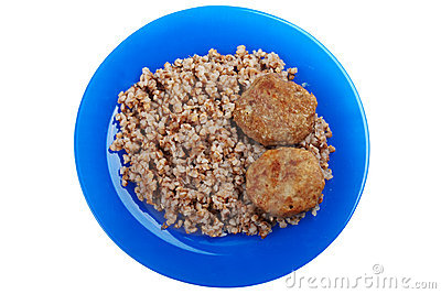 Cutlet buckwheat food