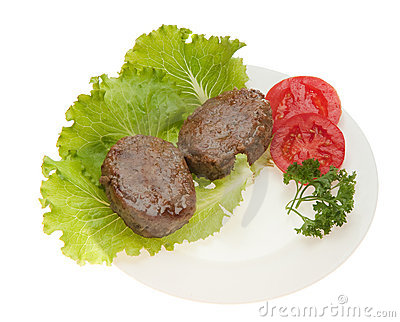 Cutlets with vegetables on a plate