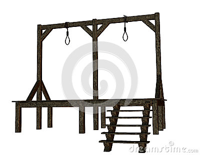 Cutout - gallows from the Middle Ages
