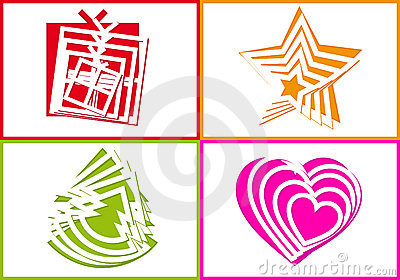 Cutout Holiday Symbols, Vector Royalty Free Stock Images - Image: 21861039