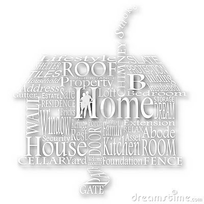 Cutout home words