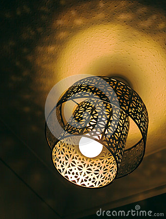 Cutout metal light shade