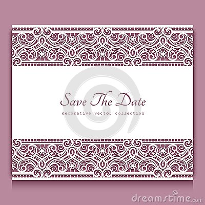 Free Cutout Paper Frame With Lace Border Ornament Royalty Free Stock Photos - 105180438