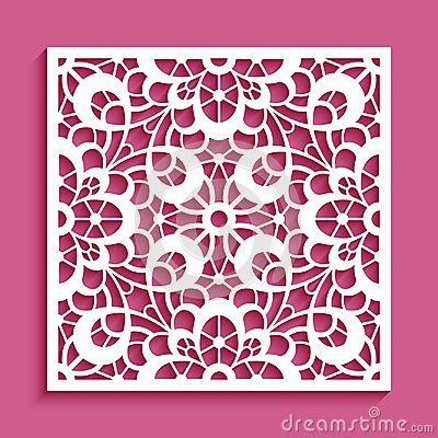 Free Cutout Paper Ornament, Lace Pattern Stock Image - 105635851