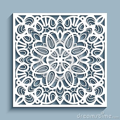 Free Cutout Paper Ornament, Lace Pattern, Template For Cutting Royalty Free Stock Photography - 109655267