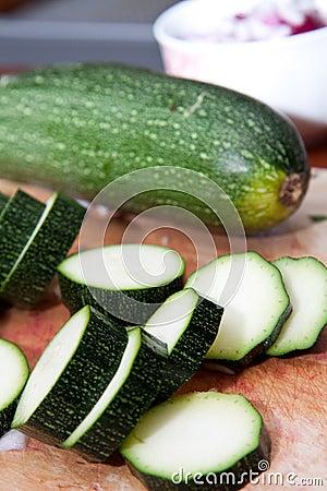 Cutted zucchini