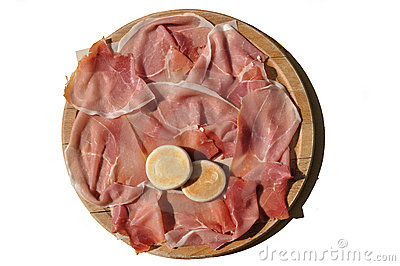 Cutting board with parma s ham