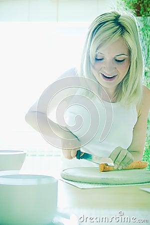 Cutting carrots