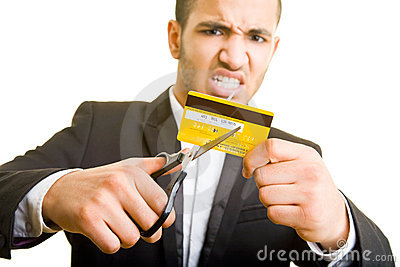 Cutting a credit card