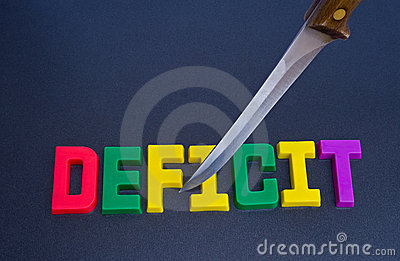 Cutting the deficit: effect of recession.
