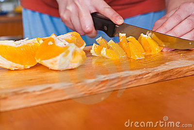 Cutting oranges