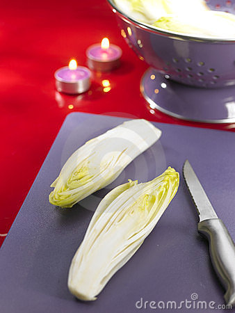 Free Cutting The Chicory In Two Royalty Free Stock Photo - 23705805