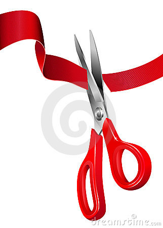 Free Cutting The Red Ribbon - Opening Ceremony Royalty Free Stock Photos - 18502748