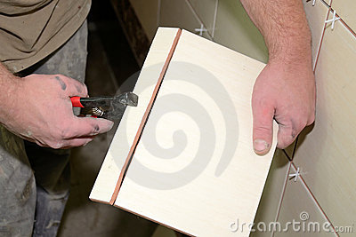 Cutting the tiles