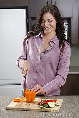 Cutting the vegies