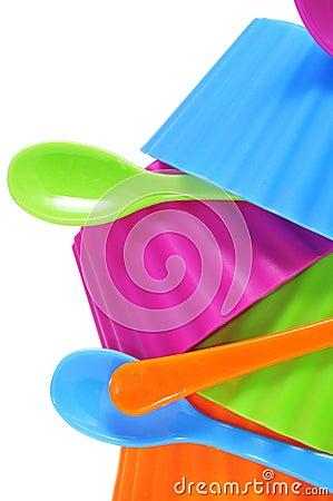 Cuvettes en plastique