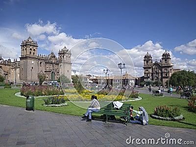 Cuzco City Square, Peru, South America Editorial Image