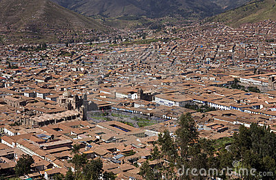 Cuzco - Peru - showing the Plaza de Armas