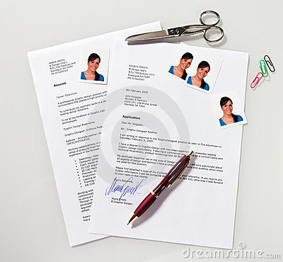 CV and application letter in English