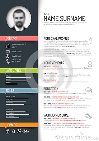 Free Cv / Resume Template Royalty Free Stock Images - 50265809