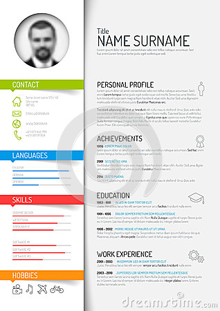 Free Cv / Resume Template Stock Image - 50593221