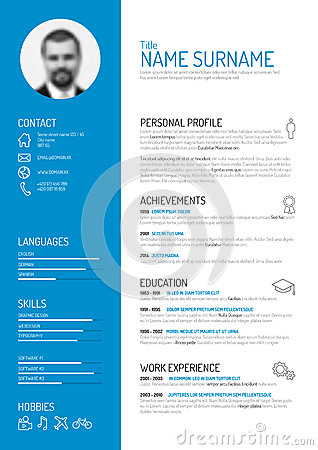 Free Cv / Resume Template Royalty Free Stock Image - 50593576