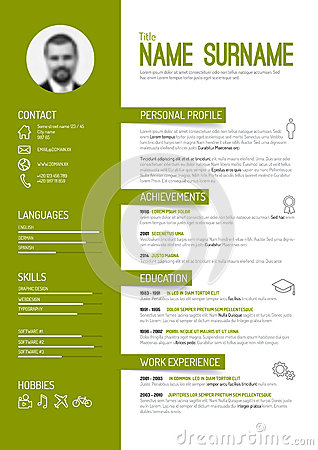 Free Cv / Resume Template Stock Photo - 53067320