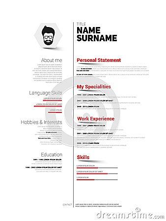 simplified resume