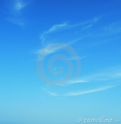 Cyan clear summer blue sky with clouds