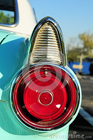 Cyan sports car right tail light