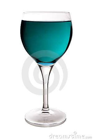 Cyan wine glass