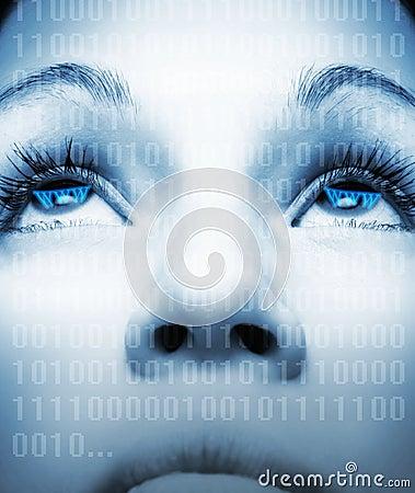 Cyber girl s face