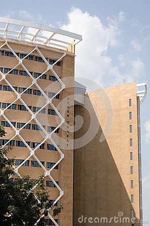 Cyber Towers. Hyderabad Editorial Stock Photo