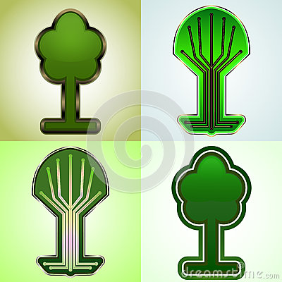 Cyber tree tags