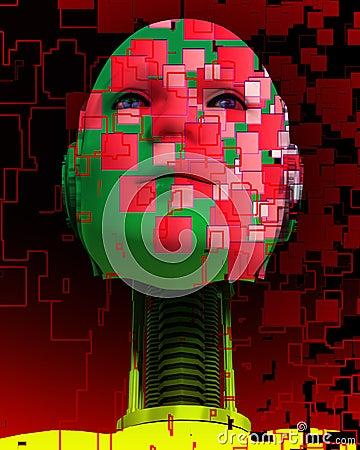 A Cyborg Head 5