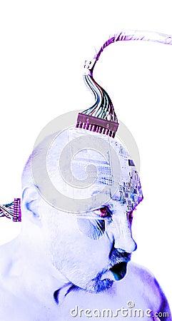 Cyborg human robot