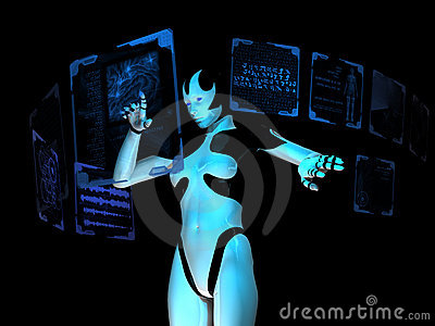 Cyborg using holographic computer