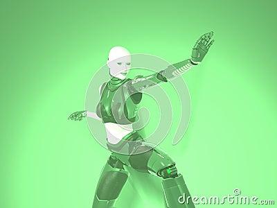 Cyborg woman