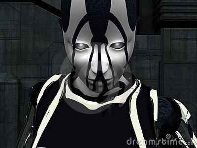 Cyborg woman portrait