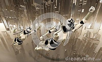Cyborgs flying