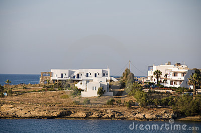 Cyclades greek island architecture on paros island