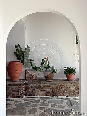Cycladic interior